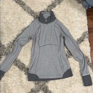 Lululemon gray running jacket